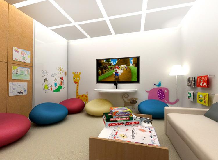 The westin hive gina reimann portfolio for Kid friendly living room designs