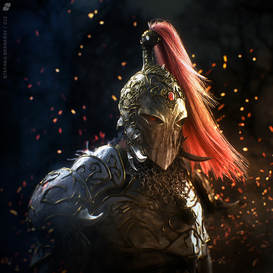 another chaos warrior stefano bernardi 3d artist